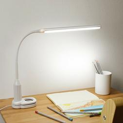24 LED Flexible USB Touch Dimmable Clip On Desk Lamp Study R