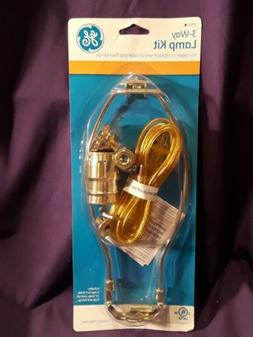 GE 3-Way 8 ft. Clear Cord with 1 Art Lamp Kit