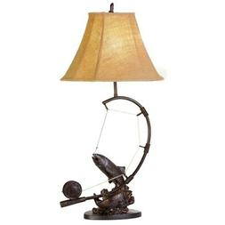 """Vintage Direct 30""""H Fly Rod Trout Table Lamp"""