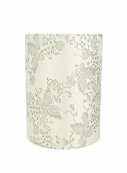 Aspen Creative 31280 Drum/Cylinder Spider Lamp Shade, Off Wh