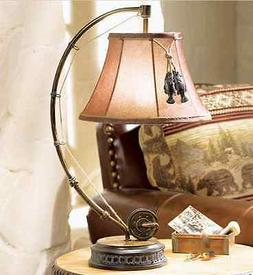 Catch Of The Day Table Lamp Fly Rod Reel Fish Rustic Cabin L