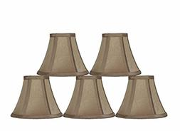 Urbanest 6-inch Chandelier Lamp Shade, Golden Taupe, Set of