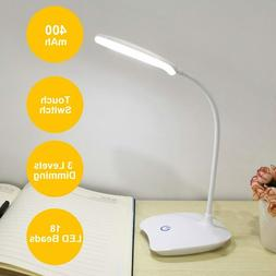 Dimmable LED Desk Lamp With USB Charging Port Table Light Fo