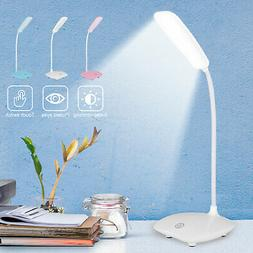 Dimmable LED Desk Light Reading Night Lamp USB Rechargeable