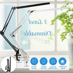 Flexible Dimmable Swing Arm Clamp Mount Lamp Office Studio H