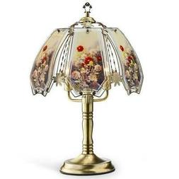 Ore International K-632AB-W12 Stained Glass Touch Lamp, 23.5