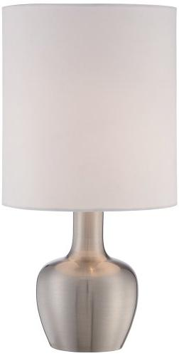"""Betsy Brushed Nickel 15 1/4"""" High Touch On-Off Table Lamp"""