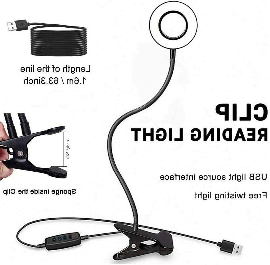 Clip On Desk Lamp LED Dimmable Night