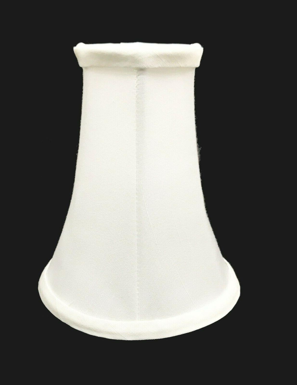 ivory color bell shaped lamp shade clips