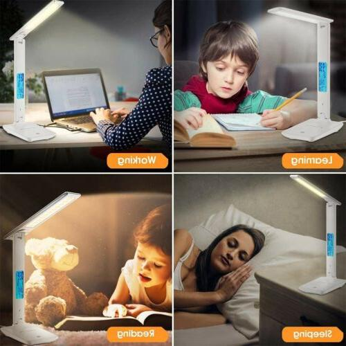 LED Lamp Touch Dimmable Table Foldable Calendar