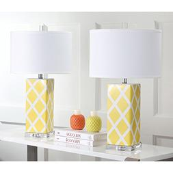 Nantucket 27 H Table Lamp with Drum Shade , Yellow