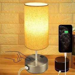 Touch Control Bedside Lamp, 3-Way Dimmable Table Lamp with D