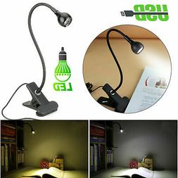 Rechargeable USB Clip On LED Desk Lamp Home Office Reading N